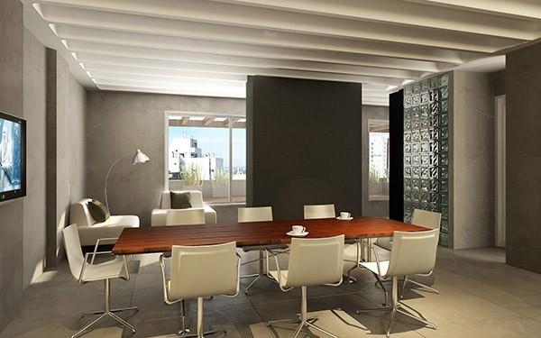 Decoracion de oficinas modernas dise o interior en zona for Ambientes minimalistas interiores